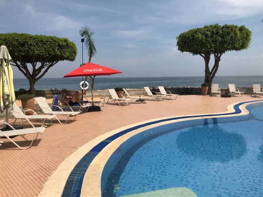 Protea Hotel pool with Lake Victoria beyond