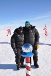 Julia and Mark at the Ceremonial South Pole.