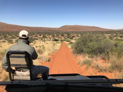 Morning game drive on east side of property. Ben is tracking.