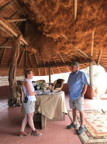 The Tswalu airstrip waiting area hosts a huge social weaver nest in its rafters.