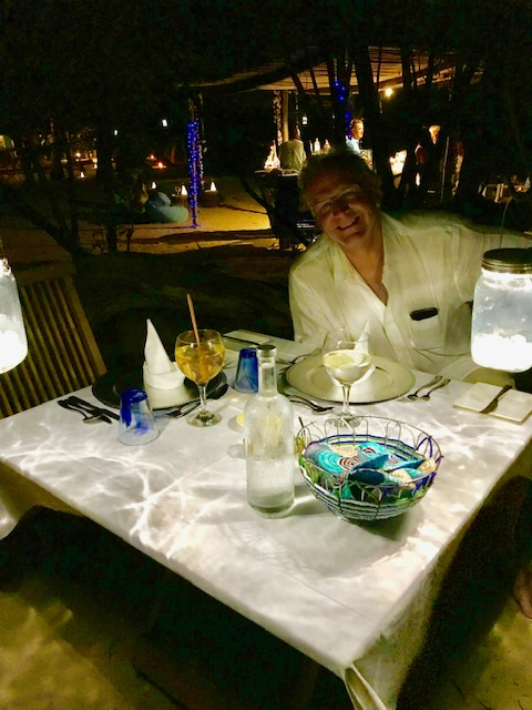 Our last dinner at Azura was in the Secret Garden.