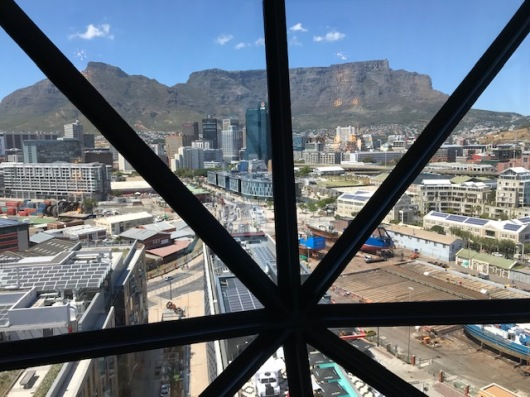 View of Table Mountain from the top of The Silo Hotel