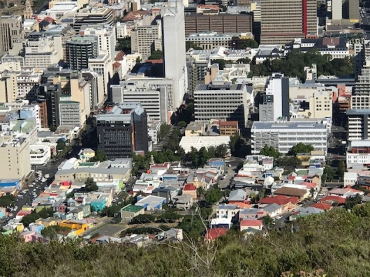 View of the Ba-Kaap neighborhood in Cape Town
