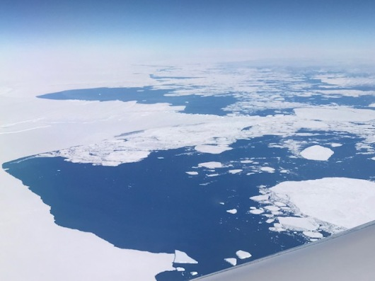 Sea ice as we approach Antarctica.