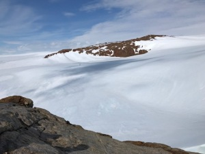 A view from the top of the Nunatak.