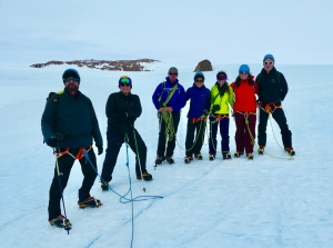 The big group that hired to the top of the local Nunatak. Francois and I went another way.