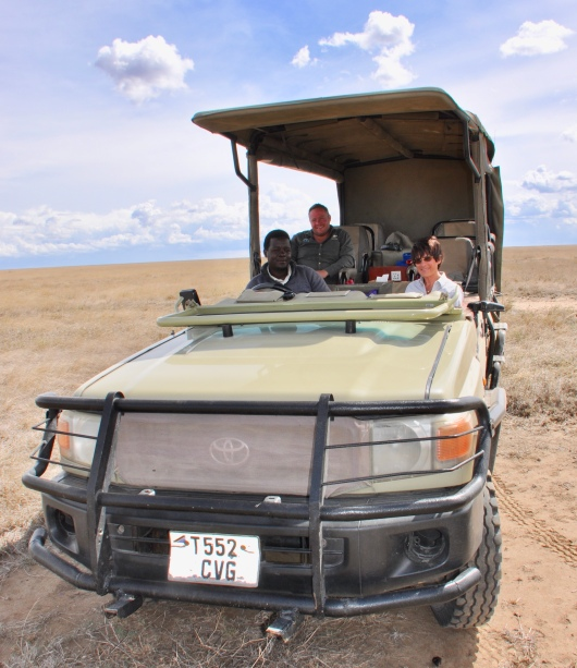 Walter, Mark and me in our Namiri Planes vehicle