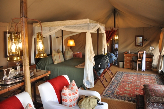 Our tent at Sabora Tented Camp in the Grumeti Reserve
