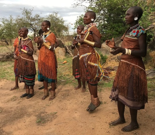 Datoga women jumping to the music
