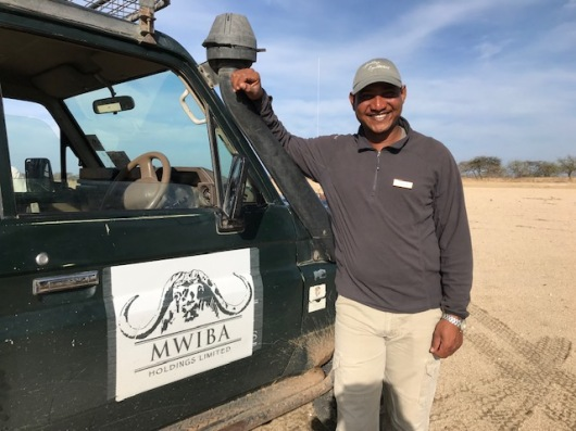 Good bye to Godson, our superb Mwiba driver/guide.